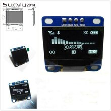 "0,96 pulgadas de la CII en serie Blanco Módulo de pantalla OLED 128X64 I2C SSD1306 12864 monitor de pantalla LCD GND VCC SCL SDA 0,96 ""para arduino oled"