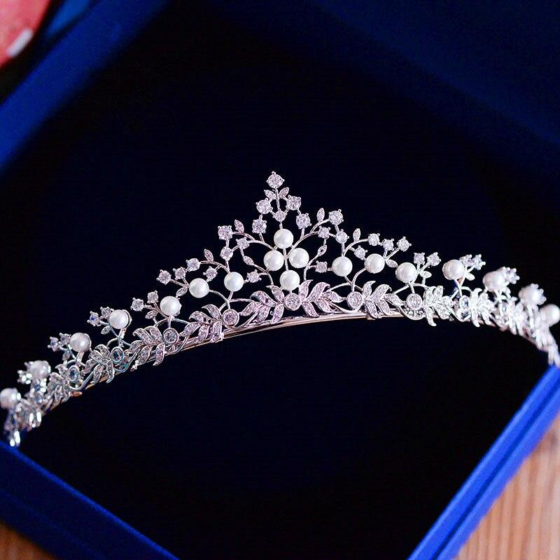 Repleto de circonita Tiara corona de Novia diadema Para boda accesorios Para...