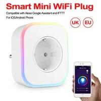 Prise de charge intelligente Wifi  Mini Homekit  prise EU UK  10a  commande vocale  fonctionne avec Amazon Alexa Google Home