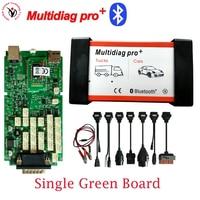 DHL Free Multidiag pro Green Single Board PCB VD TCS CDP PRO 2015.R3 Keygen Bluetooth+full set 8pcs car cable for Cars Trucks