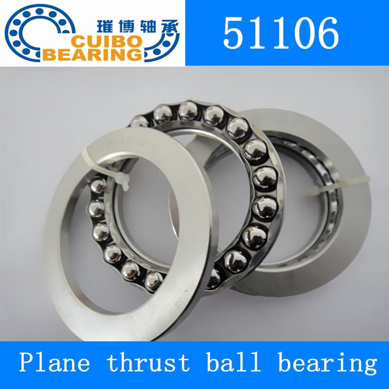 10 قطعة محوري الكرة حاملة عمود المرفق 51106 30*47*11 ملليمتر الطائرة التوجه الكرة تحمل 51106