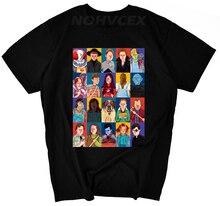 Camiseta de la película de los hombres stephen king impreso de alta calidad payaso Tops Tees fear halloween pennywise camiseta masculina personalizada