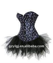 Sexy Lingerie  fancy dress costume butterflies corset , skirt S,M,L,XL  2775