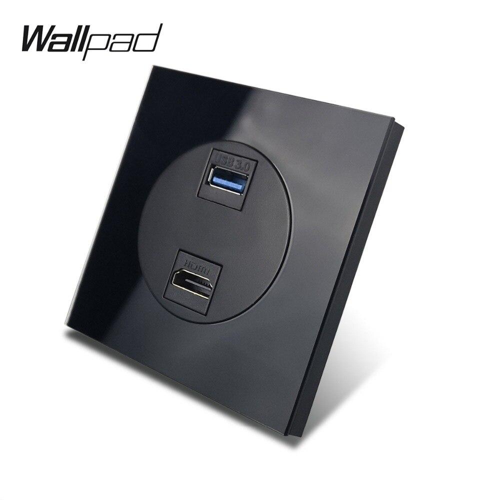 L6 الأسود الزجاج HDMI و USB 3.0 اتصال منفذ الملحقات الأسلاك المقسى زجاج إطار