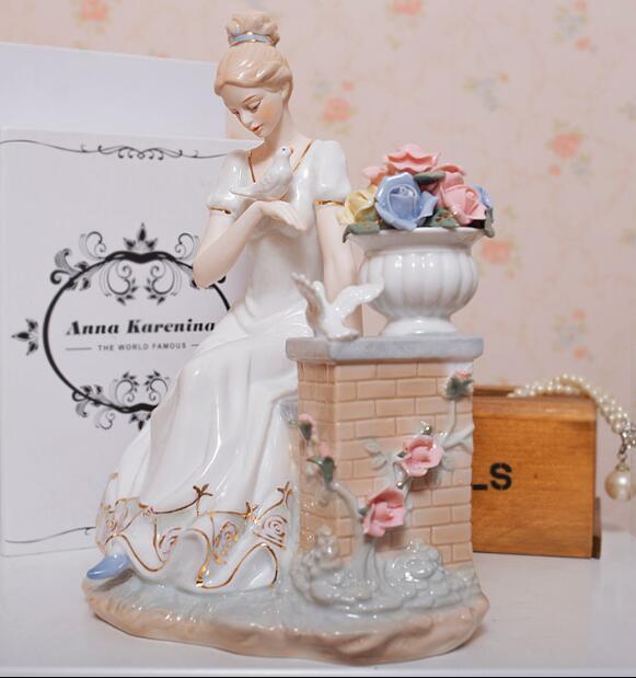 Ornements à caractères européens en céramique   Cadeaux de mariage à envoyer aux enfants, ornements artisanaux, cadeaux de fête des mères, cadeaux de mariage, 05112