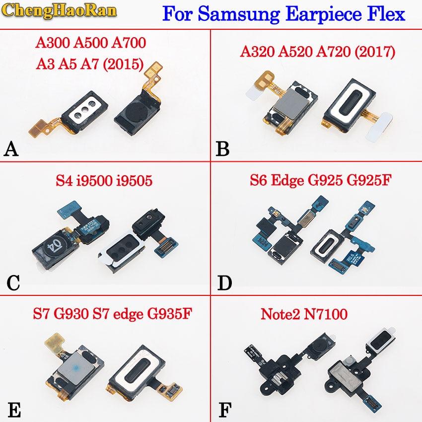 ChengHaoRan For Samsung S4 i9500 i9505 S6 Edge G925 G925F S7 edge G930 G935F Note2 N7100 A320 A3 5 7 A520 A720  Earpiece Speaker