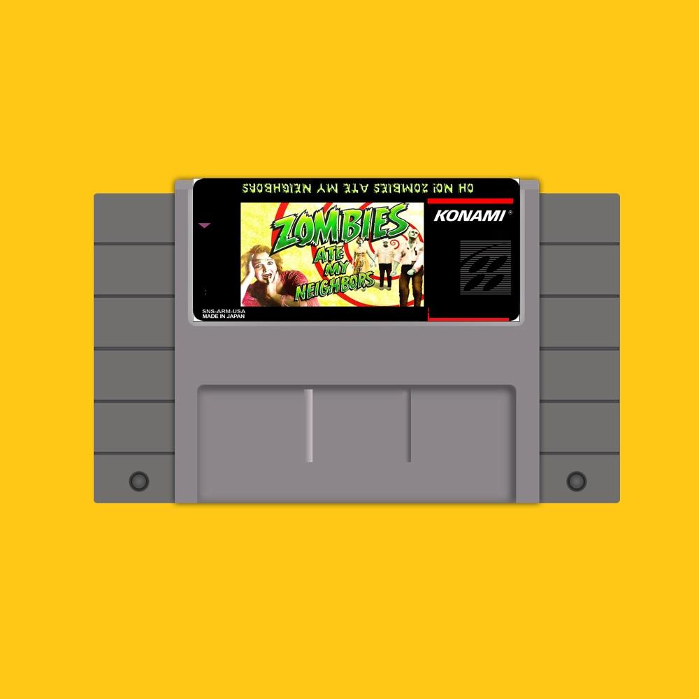 Cartucho de juego NTSC de 46 Pines de 16 bits-Zombies ate my Neighbors