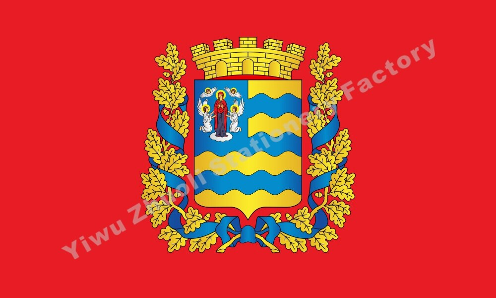 Bielorrusia Minsk Voblast bandera 150X90cm (3x5FT) 120g 100D poliéster doble cosido alta calidad bandera envío gratis