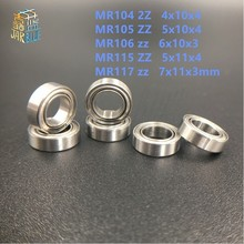 MINI roulement 4x10x4 5x10   10 pièces MR104 2Z MR105 ZZ MR106 zz MR115 ZZ MR117 zz, 7x11x3mm