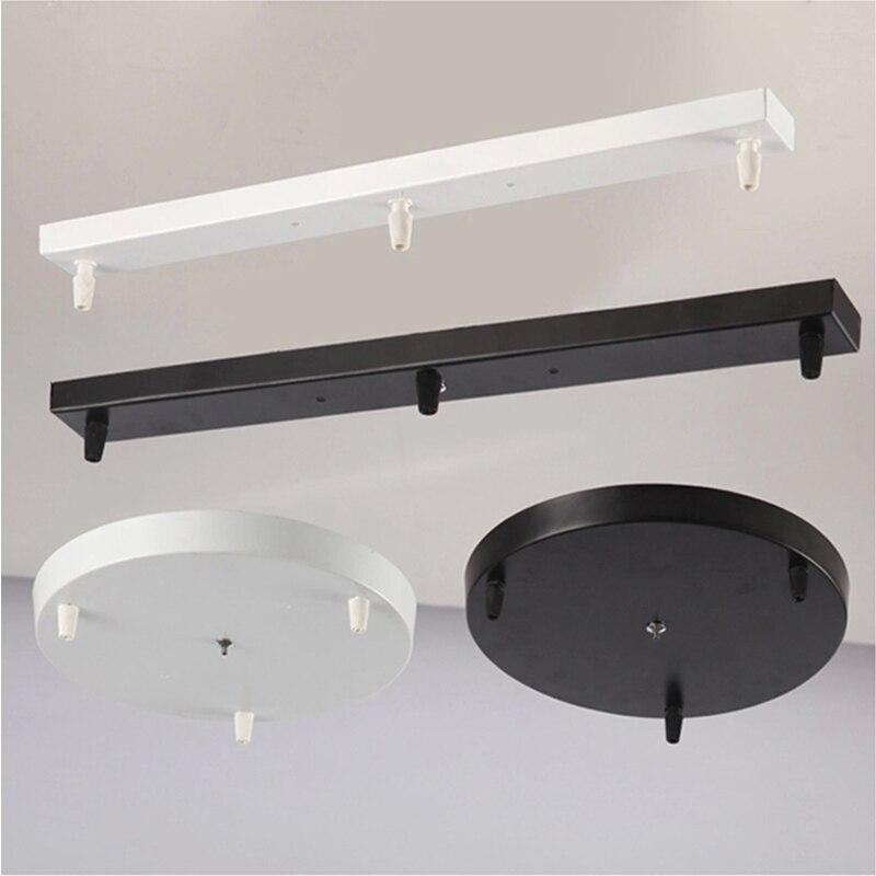Lámpara de techo montada en el techo, lámpara colgante, Base redondo largo, techo, toldo, suspensión DIY, accesorios de iluminación