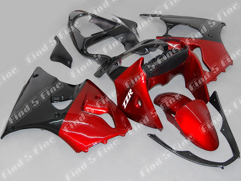 Rojo Negro para Kawasaki Ninja ZZR600 05-06 ZZR 600 2005-2006 05 06 2005 2006 ABS completo kit de carenado de motocicleta