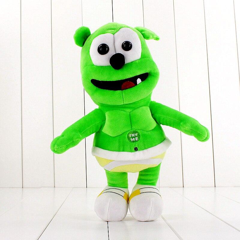 30cm oso de peluche de juguete Musical cantando soy un gomoso oso de peluche muñeco de animal para los niños