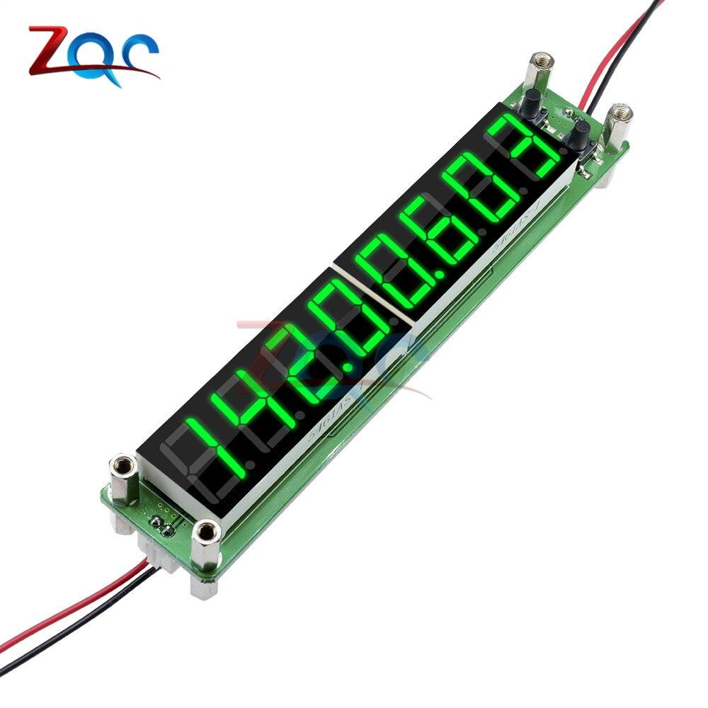 Verde 0.1 a 60 mhz 20 mhz a 2400 mhz 2.4 ghz rf sinal contador de freqüência cymometer tester 0.56 polegada 8 led digital