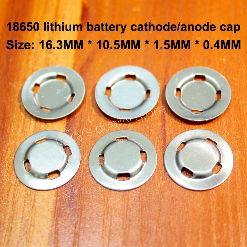 100 pièces/lot 18650 batterie au Lithium soudage par points positif capuchon plat tête onglet