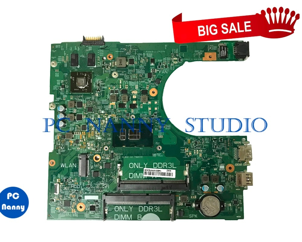 Pcnضغط 04M8WX 4M8WX لأجهزة الكمبيوتر المحمول ديل انسبايرون 3459 اللوحة i5-6200U 14236-1 DDR3L اختبارها