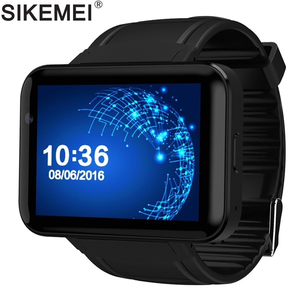 Promo SIKEMEI Android Smart Watch Bluetooth Sports Tracker Wristwatch 3G WCDMA Network WiFi GPS Camera Big Battery DM98 MTK6572