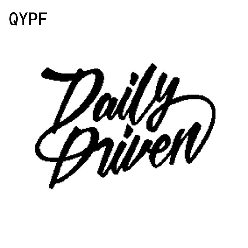 QYPF 14.5CM*10.1CM Fashion Daily Driven Vinyl Car Styling Car Sticker Decal Black Silver Motorcycle Accessories C15-2082