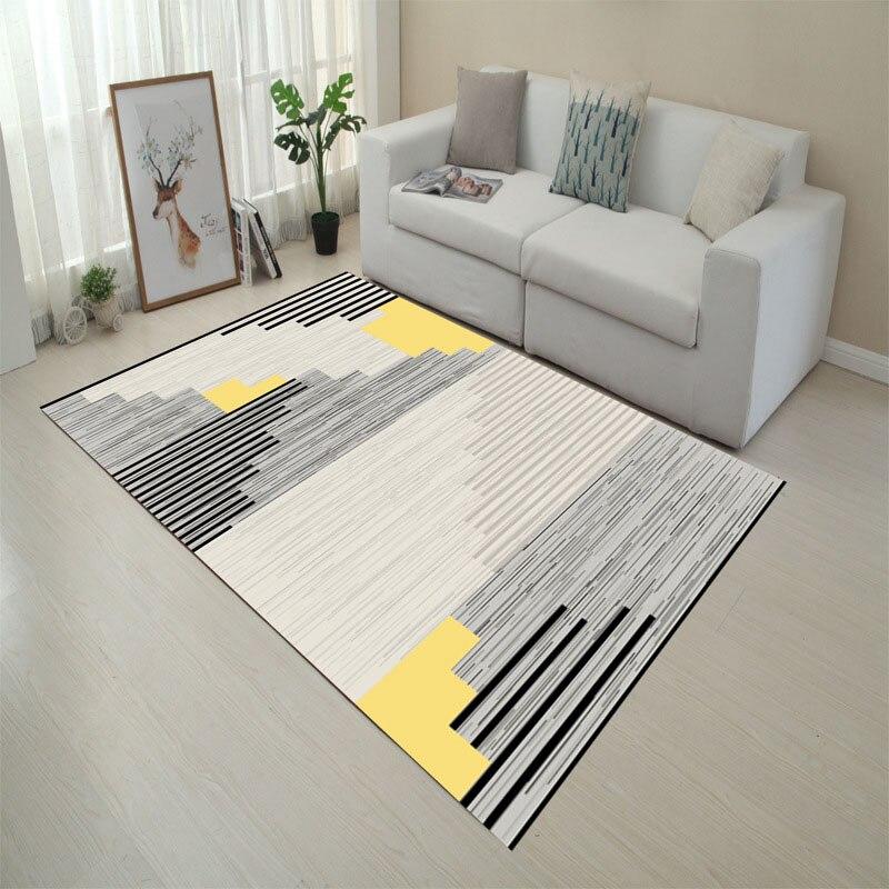 Tapis de sol géométrique moderne   Pour salle de séjour chambre à coucher 80*160cm tapis de sol décoratifs et modernes pour salle de bain