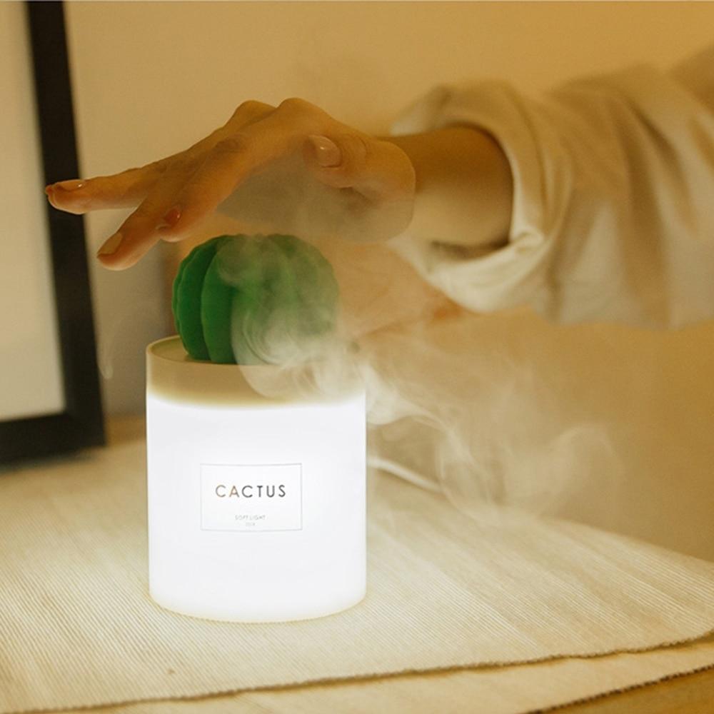 USB Aroma difusor de aceite esencial humidificador ultrasónico de vapor frío purificador de aire caliente LED de luz de la noche para la oficina en casa Coche