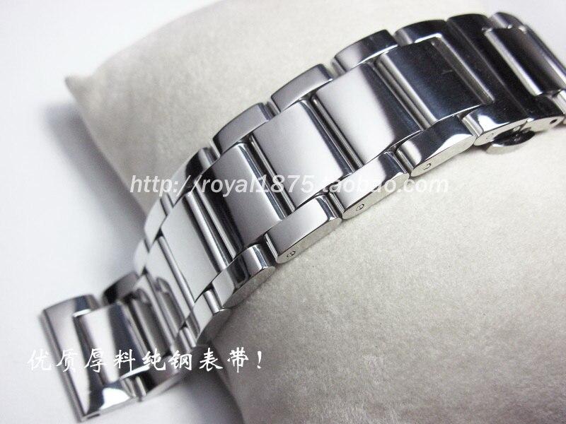 16 18 19 20 21 22 23 24mm correias dos homens de alta qualidade sólido aço inoxidável pulseira pulseiras cinto luxo para omega/fiyta seiko