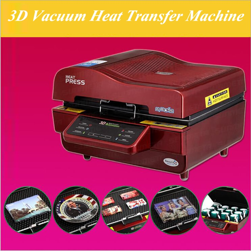 3D Vacuum Heat Transfer Machine 110v/220v 2800W 3D Multifunctional Sublimation Heat Press Machine for Mug Cup Phone Case ST-3042