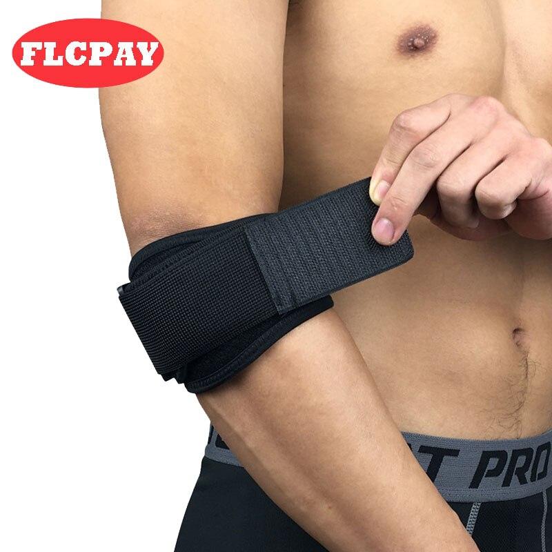 1 Uds. Ajustable de bádminton, soporte de codo para levantamiento de pesas, correa de golfista, coderas, síndrome de dolor Lateral, soporte para epicondilitis