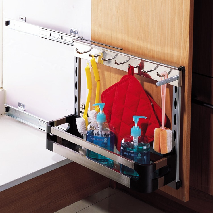 250 cabinets stainless steel tool basket kitchen storage racks kitchen sink cabinet side loading basket