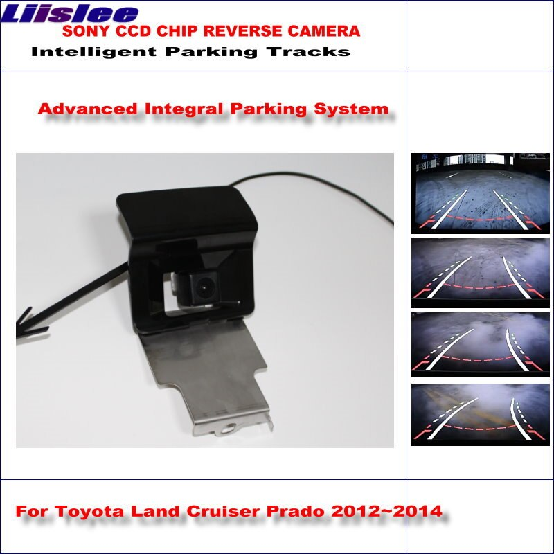 Liislee Intelligentized Reversing Camera For Toyota Land Cruiser Prado 2012~2014 Rear View Back Up Dynamic Guidance Tracks