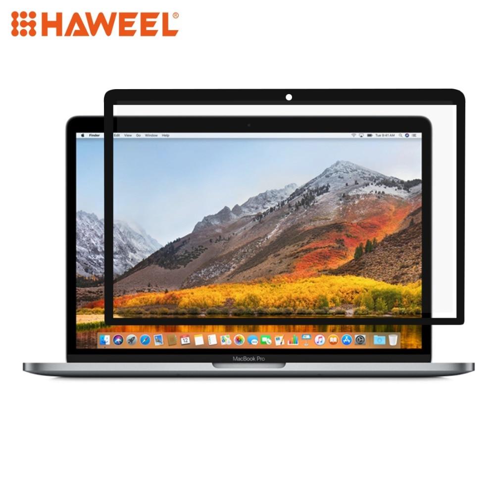 Dureza de Superfície Cheia para Macbook Polegadas com Barra de Toque Haweel Scratch-proof Filme Pet Tela Pro 15.4 A1707 Preto 0.3mm 6 h hd