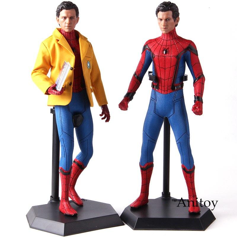 Marvel Spider Man Homecoming Spiderman juguetes locos 1/6 figuras de acción figura coleccionable en miniatura de juguete