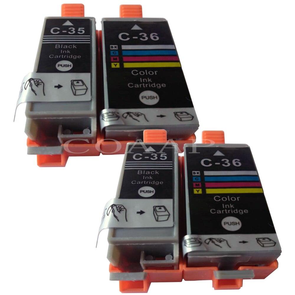 Cartucho de tinta Compatible de alta calidad para PGI 35 CLI 36 pgi35 cli36 PIXMA iP100 iP100B cartucho de inyección de tinta Envío Gratis para PGI-35
