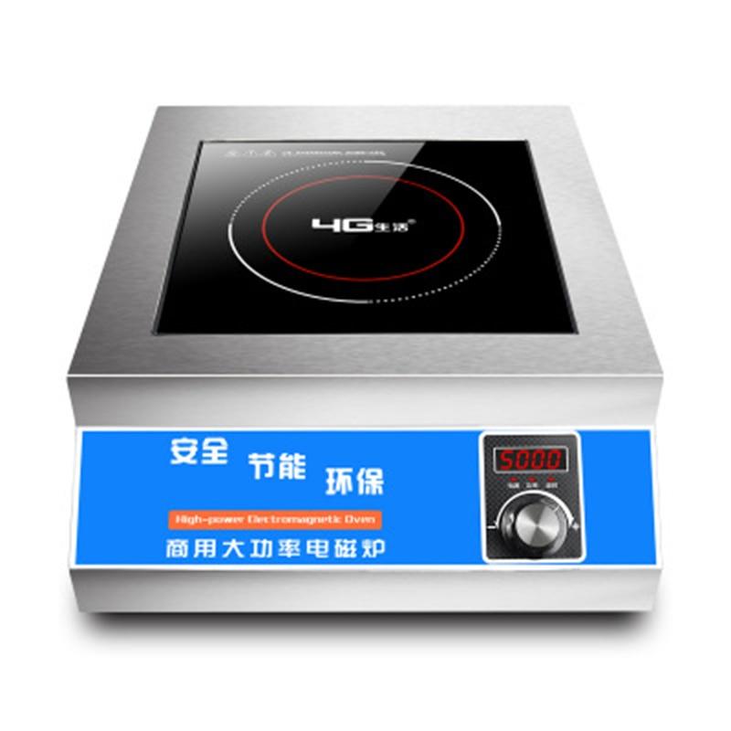 Olla de inducción plana comercial de 5000 W, olla caliente directa de fábrica de alta potencia, olla caliente de Tipo de mando auténtica para hotel o restaurante