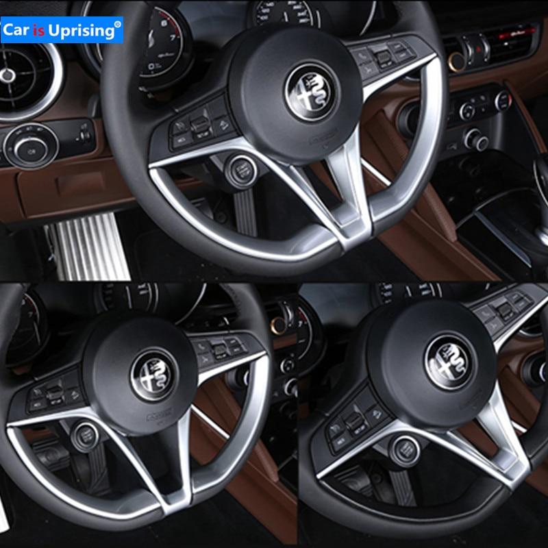 Автомобильный Стайлинг 3 шт. для Alfa Romeo Stelvio 2017 2018 ABS Chrome рулевое колесо