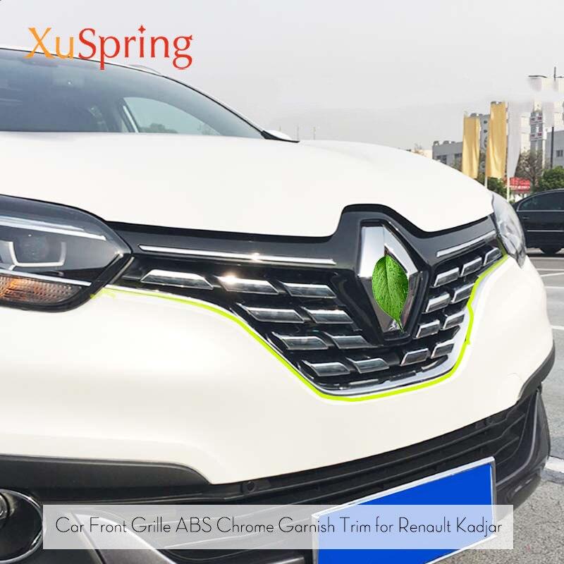 Для Renault Kadjar 2016 2017 2018 Передняя сетка решетка крышка отделка капота украшение для литья защита для автомобиля Стайлинг наклейки