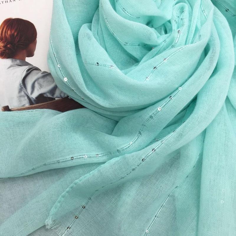 Fashion plain solid glitter sparkling sequin women scarf/scarves shimmer hijab shawls muslim head scarf wraps 10pcs/lot hot sale
