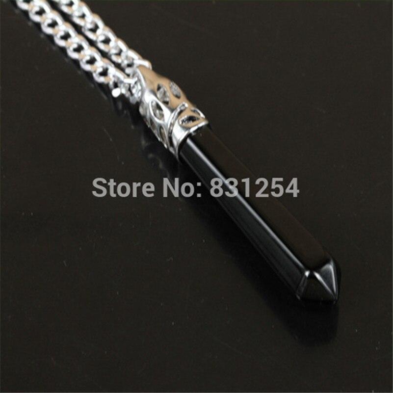 1 pc de ónix negro Natural cuarzo gema piedra colgante, collar de encanto de piedra Druzy colgante de joyería de las mujeres collar