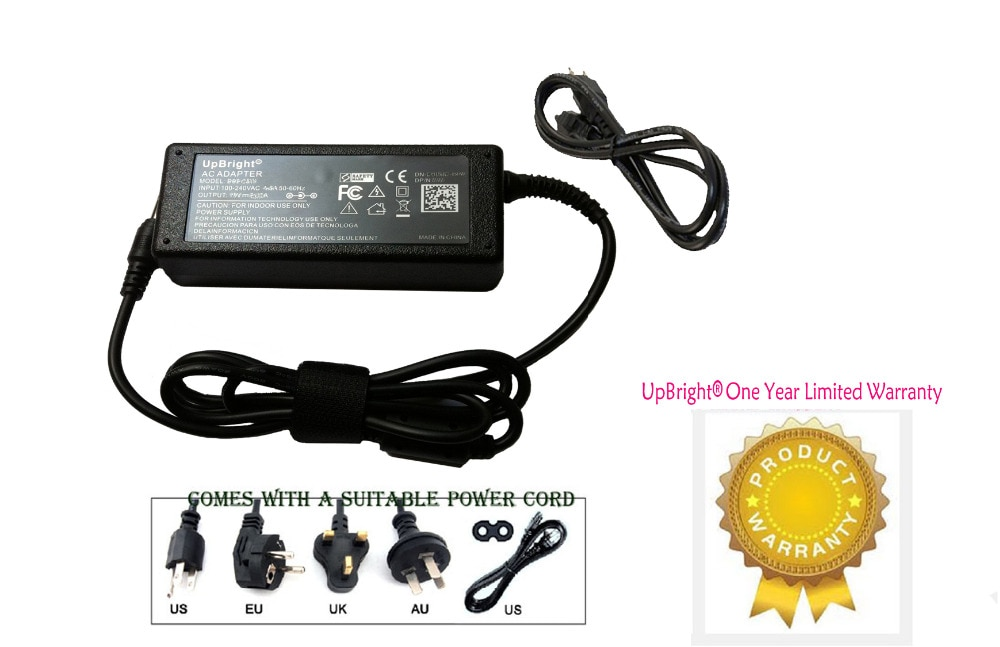 UpBright nuevo 24V AC/adaptador DC para dar GM85-240400-F 24VDC de Cable de alimentación Cable PS cargador de alimentación