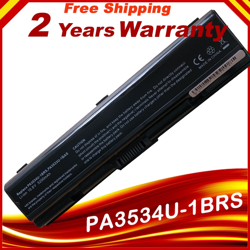 5200mAh Laptop Battery for Toshiba Satellite L300 L305 L500 L505 PA3534U-1BRS 6cell