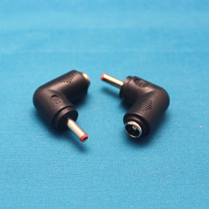 100 Uds ángulo de flexión 5,5*2,1mm cabeza del convertidor de CC madre hembra vuelta 3,5*1,35mm macho DC5521 cabeza a 35135 adaptador de corriente de CC
