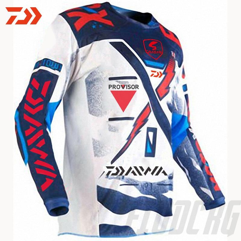 DAIWA 2020 Fishing Clothing Summer Short Sleeve Deep Sea Sunscreen Breathable Clothes Anti-UV Ultrathin Fishing Shirt Clothes