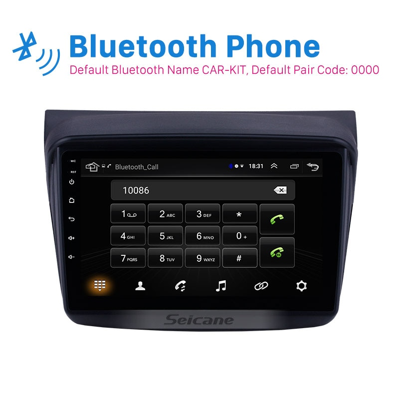 Seicane 9 pulgadas Android 8,1 2din GPS para coche Unidad Principal para Mitsubishi Pajero Sport/L200/2006 + Triton/2008 + PAJERO 2010