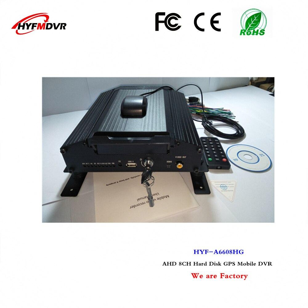 GPS mdvr 8CH ônibus local de monitoramento de vídeo em disco rígido móvel DVR apoio Zimbabwe/Malawi língua