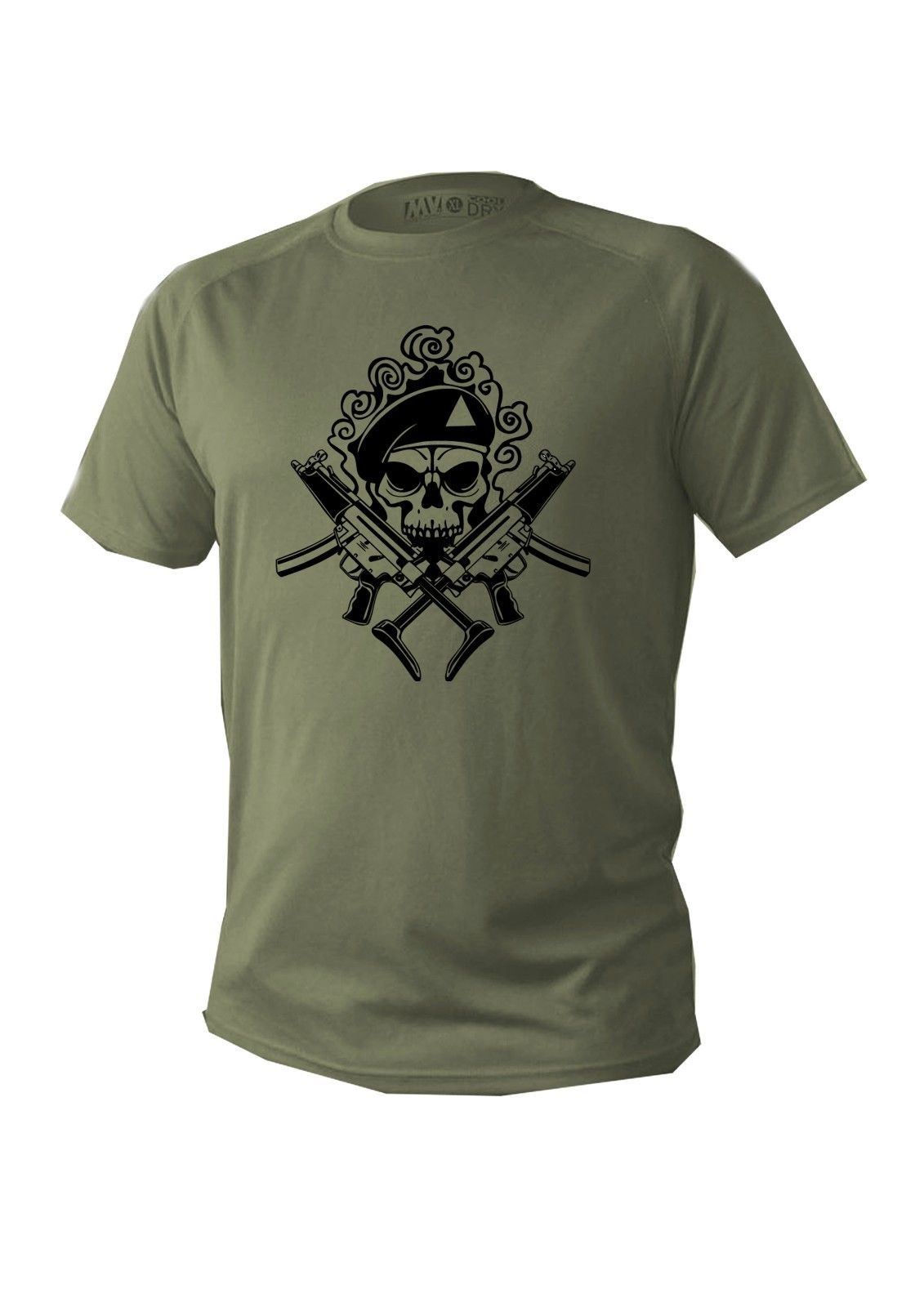 2019 Fashion Cool Men T-shirt T shirt Men man  short sleeve green olive military design army skull new