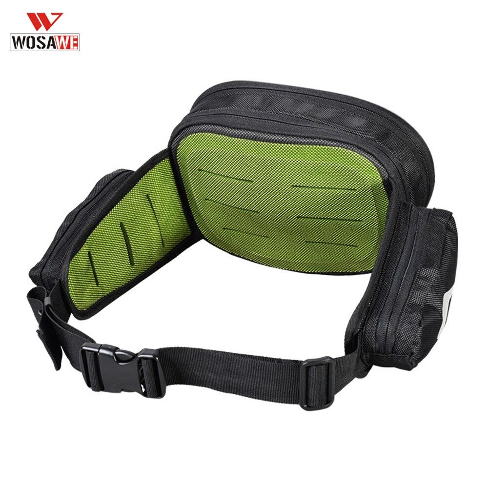 WOSAWE, paquete de cinturón deportivo para motocicleta adulta, riñonera de caída, bolsa de viaje para motociclista de poliéster 600D