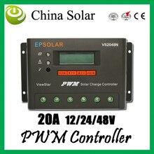 Ep 솔라 충전 컨트롤러 pwm vs2048n, 20a 12/24/48 v 자동 솔라 컨트롤러