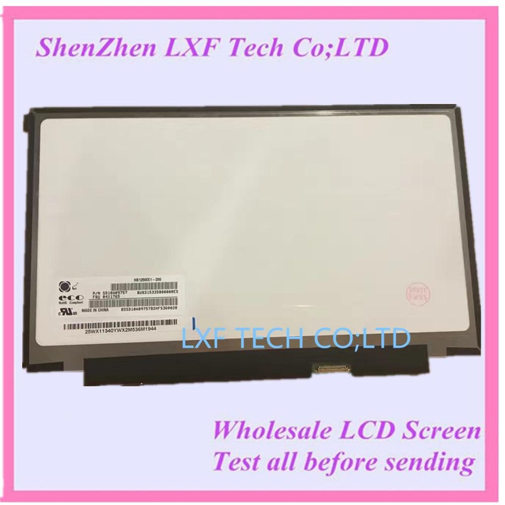 "12,5 ""1366X768 Laptop LCD LED pantalla para lenovo x240 x240s B125XTN01.0 HB125WX1-200 LP125WH2-TPH1 M125NWR3"