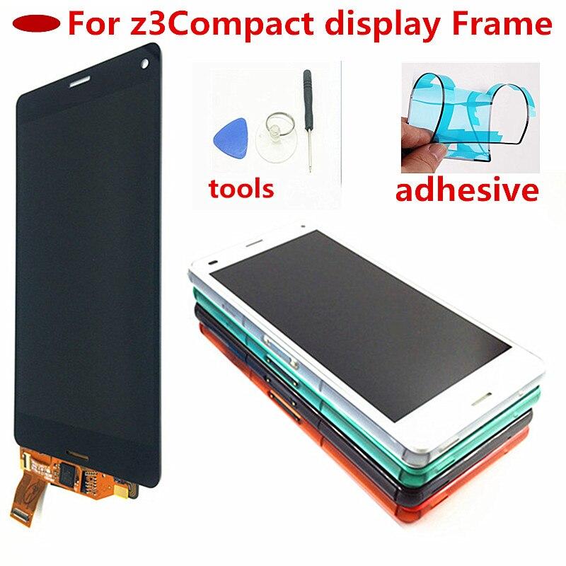 4,6 дюймовый экран для Sony Xperia Z3 компактный сенсорный ЖК-дисплей D5803 D5833 дигитайзер + рамка для Sony z3 Мини замена экрана