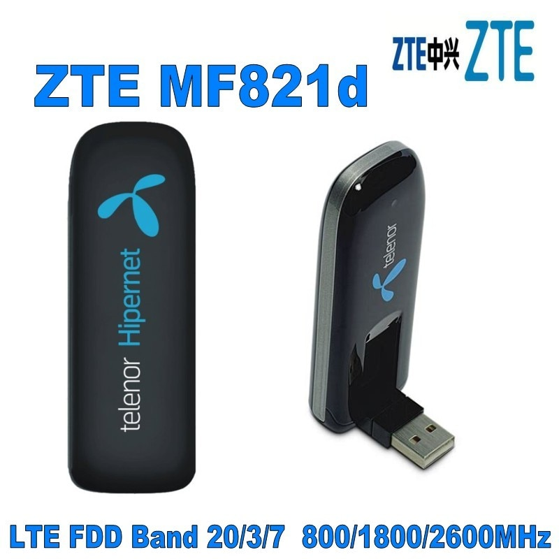 ZTE 100pcs Mobile Broadband UNLOCKED MF821d 100Mbps LTE 4G 3G 2G USB modem dongle