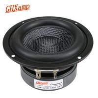 GHXAMP 4-дюймовый сабвуфер, сабвуфер, динамик Hi-Fi, 4 Ом, 40 Вт, стекловолоконная раковина, глубокий бас, громкоговоритель, большой магнитный 1 шт.