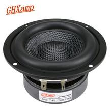 GHXAMP 4 Inch Woofer Subwoofer Speaker Unit HIFI 4ohm 40W Fiberglass Woven Basin Deep Bass Loudspeaekr Large Magnetic 1PC